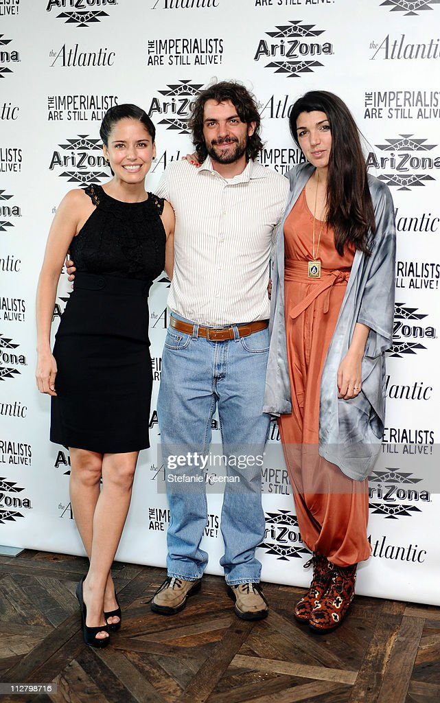 Ana Claudia Talancon, Jose Maria De Tavira and Zeina Durra attend The Atlantic Magazine And AriZona Beverages Los Angeles Premiere Of 'The Imperialists Are Still Alive!' at Soho House on April 19, 2011 in West Hollywood, California.