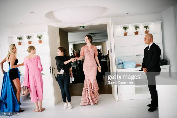 Ana Cleveland backstage during the amfAR Gala Cannes 2017 at Hotel du CapEdenRoc on May 25 2017 in Cap d'Antibes France