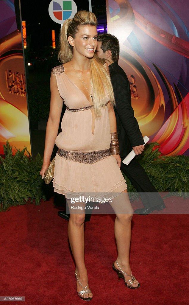 Ana Cristina Alvarez during 2005 Premio Lo Nuestro Awards Red Carpet at American Airlines Arena in Miami Florida United States