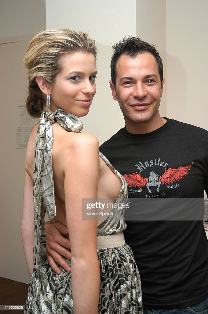 Ana Cristina and Ricardo Rojas during Ricardo Rojas Hair Suite at the W Hotel at W Hotel in Westwood California United States