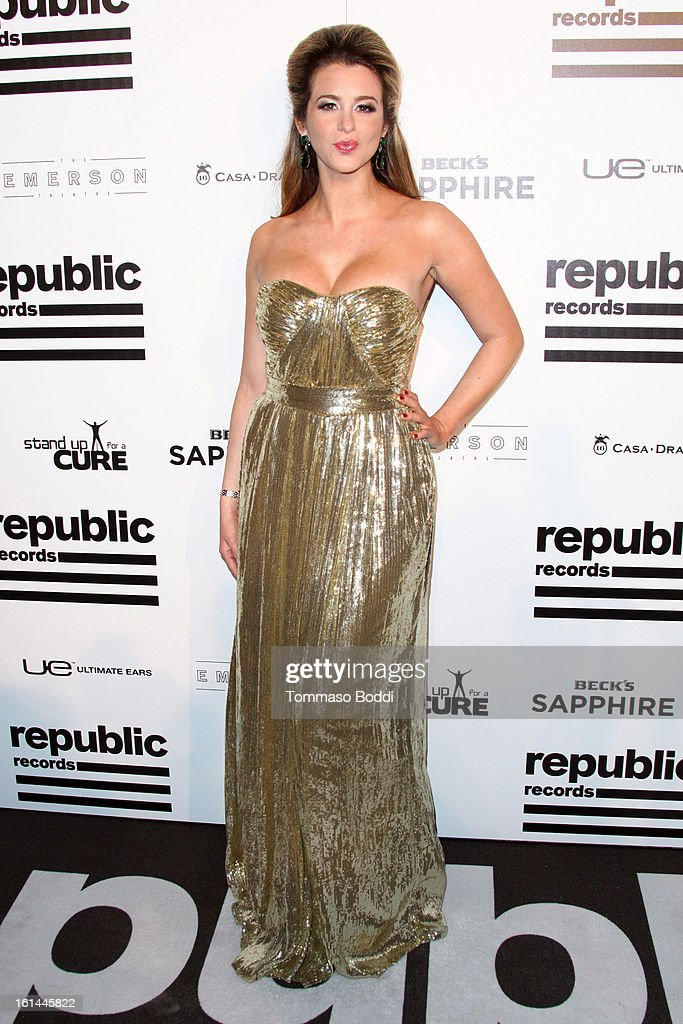 Ana Cristina attends the Republic Records post GRAMMY party held at The Emerson Theatre on February 10, 2013 in Hollywood, California.