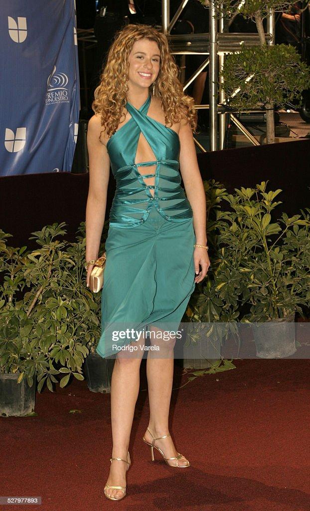 Ana Cristina during 2004 Premio Lo Nuestro Arrivals at Miami Arena in Miami Florida United States
