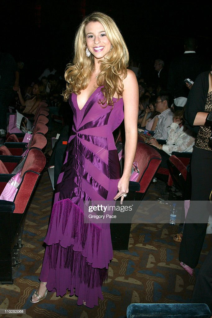 Ana Cristina during Olympus Fashion Week Spring 2006 Baby Phat Backstage Inside Arrivals and Front Row at Radio City Music Hall in New York City New...