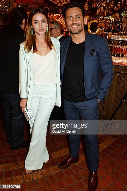 Ana de Armas and Edgar Ramirez attend a starstudded dinner hosted by DEAN DELUCA Harvey Weinstein Charles Finch to celebrate Robert De Niro in his...