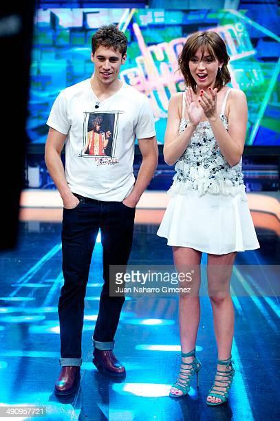 Ana de Armas and Martino Rivas attend 'El Hormiguero' Tv show at Vertice Studio on May 15 2014 in Madrid Spain