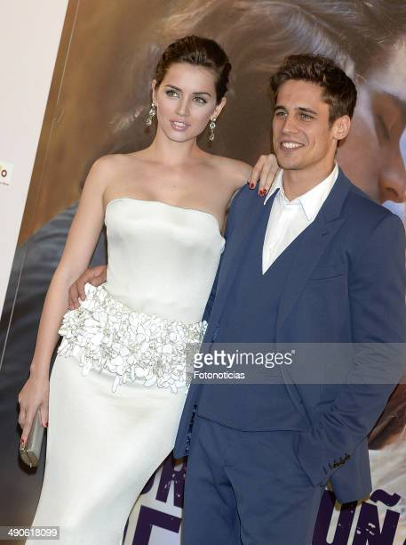 Ana de Armas and Martino Rivas attend the 'Por Un Punado de Besos' premiere at Callao Cinema on May 14 2014 in Madrid Spain
