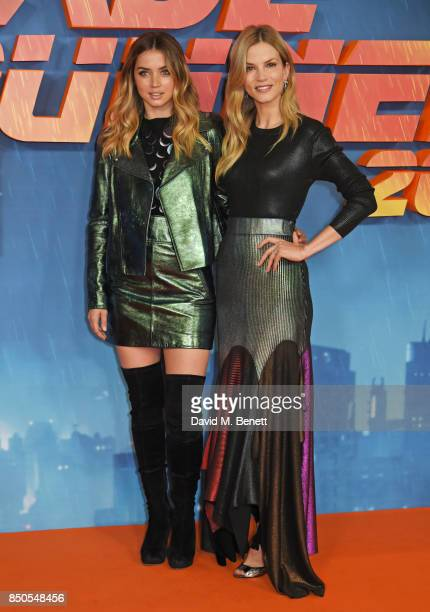 Ana de Armas and Sylvia Hoeks attend the 'Blade Runner 2049' photocall at The Corinthia Hotel on September 21 2017 in London England