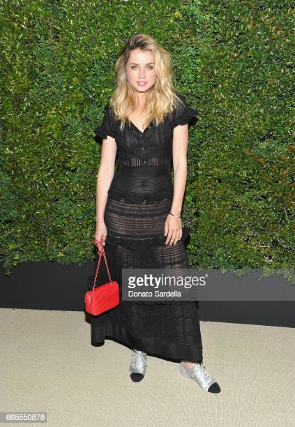 Ana De Armas attends Caroline De Maigret and Pharrell Williams dinner in celebration of CHANEL's Gabrielle Bag at Giorgio Baldi on April 6 2017 in...