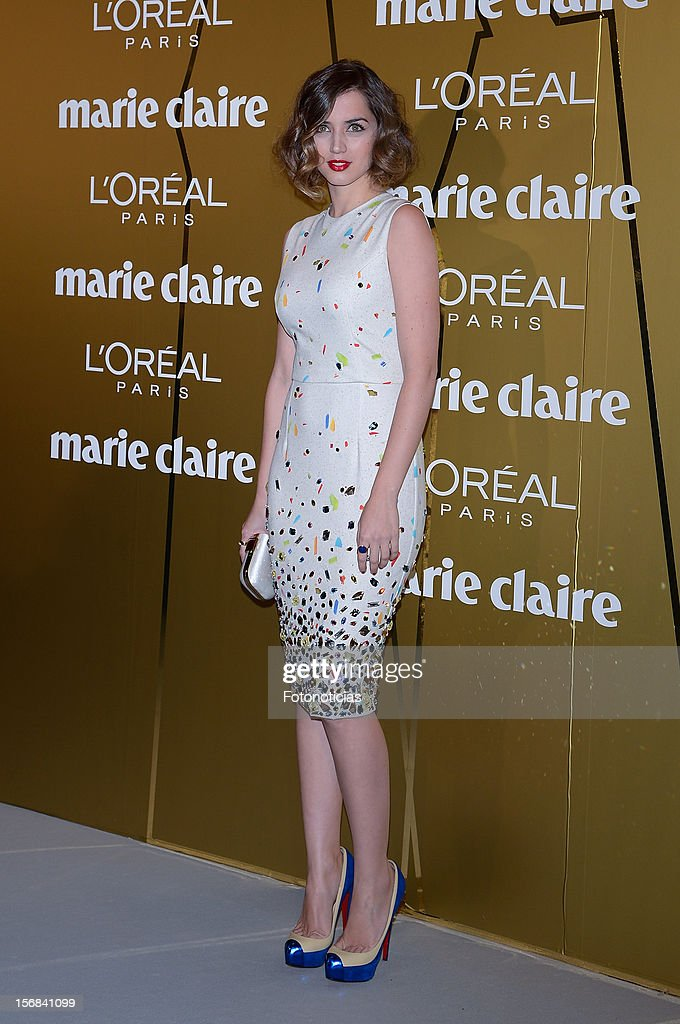 Ana de Armas attends 'Marie Claire Prix de la Mode 2012' ceremony at the French Ambassadors Residence on November 22, 2012 in Madrid, Spain.