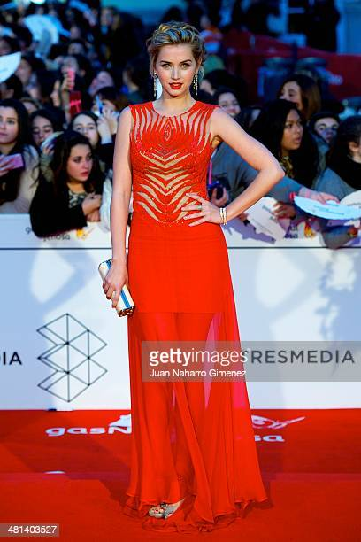 Ana de Armas attends the 17th Malaga Film Festival 2014 closing ceremony at the Cervantes Theater on March 29 2014 in Malaga Spain