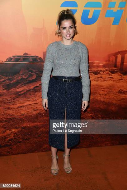 Ana De Armas attends the 'Blade runner 2049' photocall at Hotel Le Bristol on September 20 2017 in Paris France