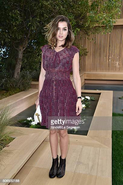 Ana de Armas attends the Chanel Spring Summer 2016 show as part of Paris Fashion Week on January 26 2016 in Paris France