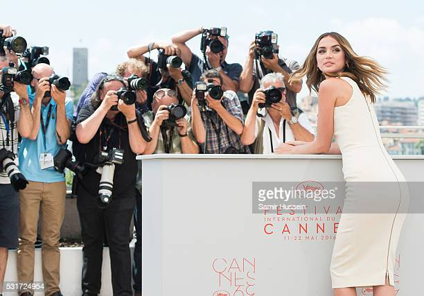 Ana de Armas attends the 'Hands Of Stone' Photocall at the annual 69th Cannes Film Festival at Palais des Festivals on May 16 2016 in Cannes France