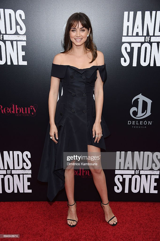Ana de Armas attends the 'Hands Of Stone' US premiere at SVA Theater on August 22 2016 in New York City
