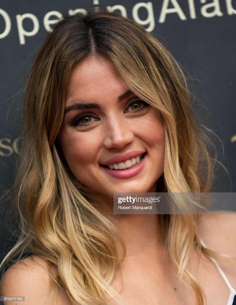 Ana de Armas attends the opening of Hotel Alabriga on July 7, 2017 in Girona, Spain.