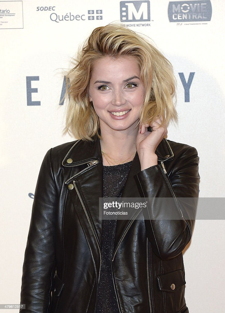 <a gi-track='captionPersonalityLinkClicked' href=/galleries/search?phrase=Ana+de+Armas&family=editorial&specificpeople=4708286 ng-click='$event.stopPropagation()'>Ana de Armas</a> attends the premiere of 'Enemy' at Palafox Cinema on March 20, 2014 in Madrid, Spain.