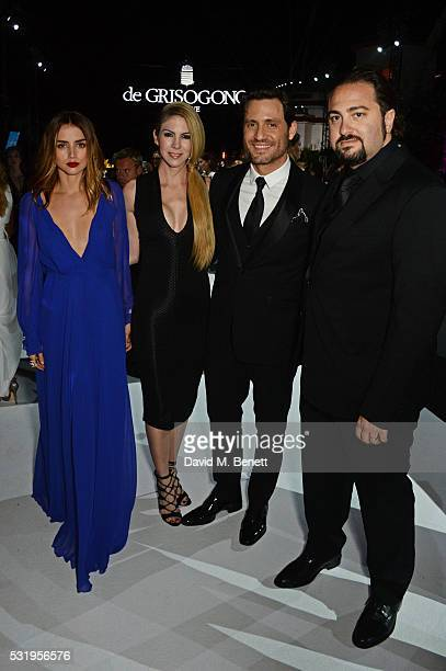 Ana de Armas Claudine Jakubowicz Edgar Ramirez and Jonathan Jakubowicz attend the de Grisogono party during the 69th Cannes Film Festival at Hotel du...