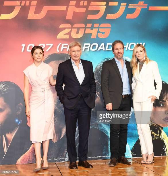 Ana de Armas Harrison Ford director Denis Villeneuve and Sylvia Hoeks attend the 'Blade Runner 2049' press confrence at the RitzCarlton on October 23...