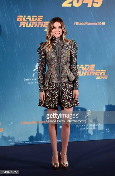 Ana de Armas poses for the 'Blade Runner 2049' photocall at Villa Magna hotel on September 19 2017 in Madrid Spain