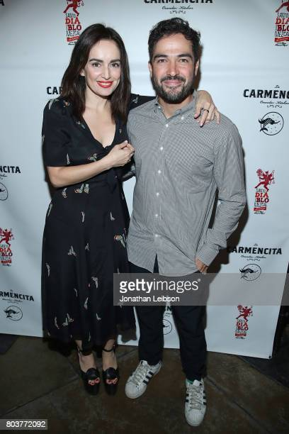 Ana de La Reguera and Alfonso Herrera attend the La Carmencita Celebrates Its Grand Opening on June 29 2017 in Los Angeles California