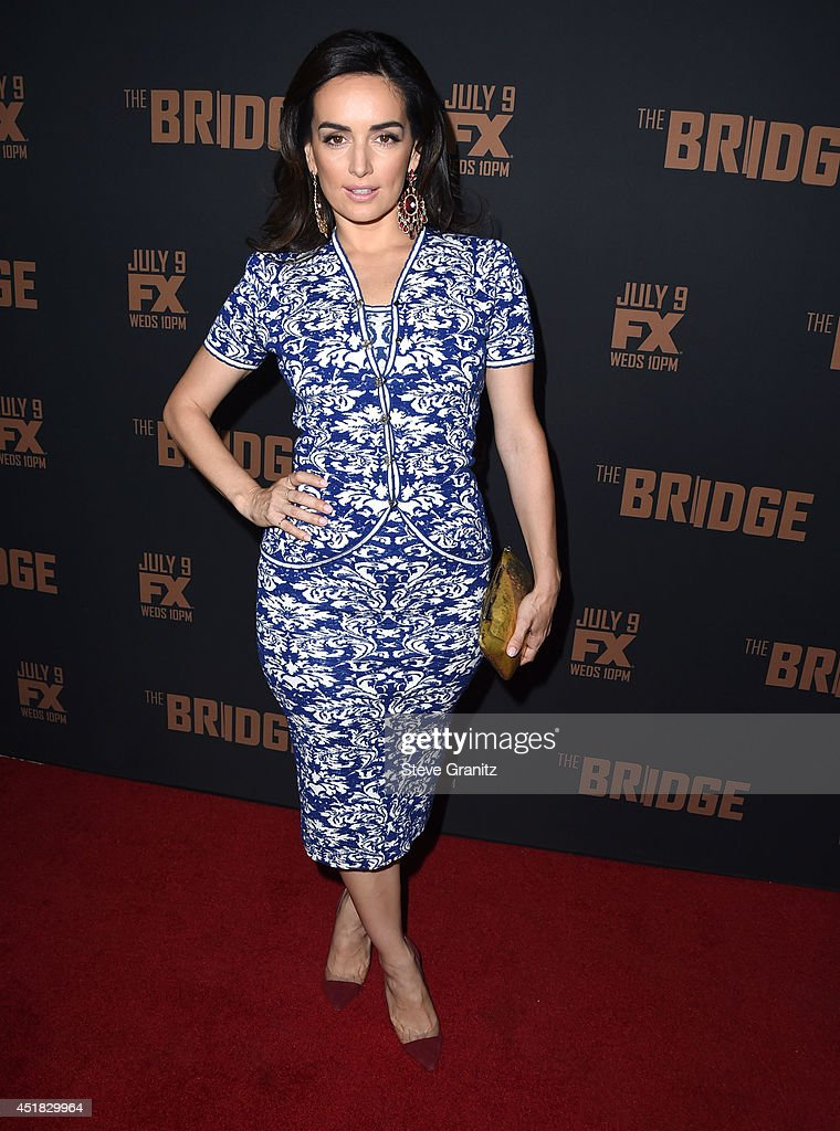Ana de la Reguera arrives at the FX's 'The Bridge' Season 2 Premiere at Pacific Design Center on July 7, 2014 in West Hollywood, California.