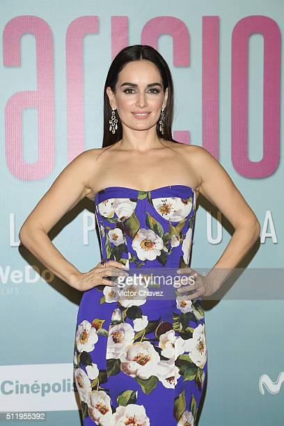Ana de la Reguera attends 'Las Aparicio' Mexico City premiere at Cinepolis Plaza Universidad on February 23 2016 in Mexico City Mexico