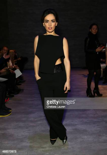 Ana de la Reguera attends the Angel Sanchez fashion show during MercedesBenz Fashion Week Fall 2014 at The Pavilion at Lincoln Center on February 10...