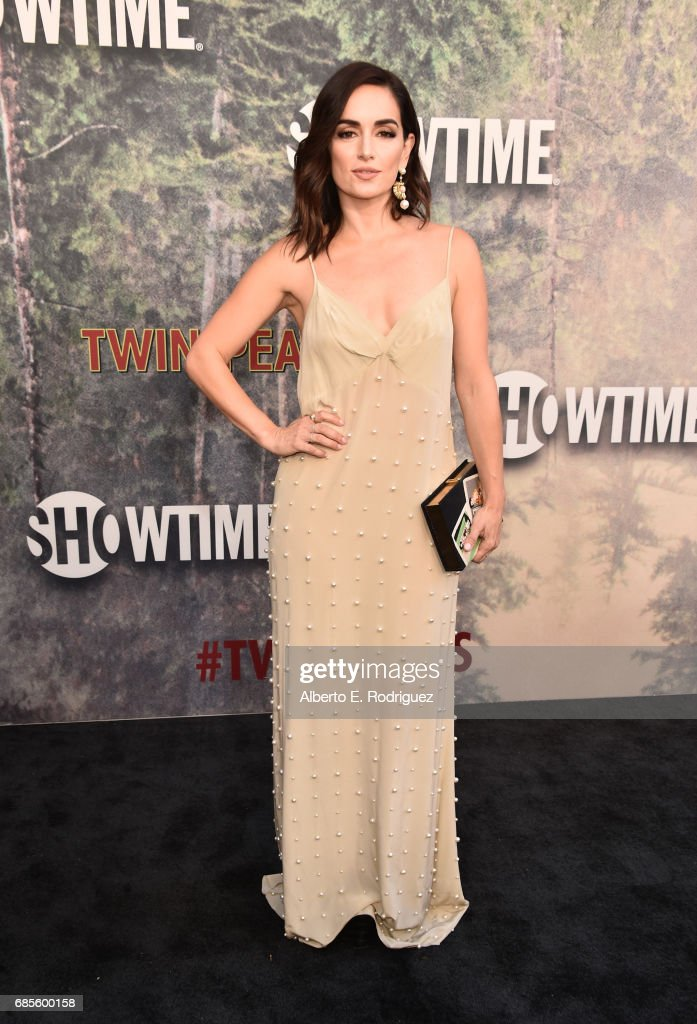Ana de la Reguera attends the premiere of Showtime's 'Twin Peaks' at The Theatre at Ace Hotel on May 19, 2017 in Los Angeles, California.