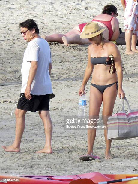 Ana Duato and Miguel Angel Bernardeau are seen on July 19 2016 in Ibiza Spain