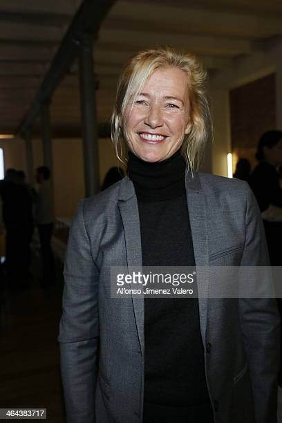 Ana Duato attends the Madrid Fashion Show Men Catwalks on January 22 2014 in Madrid Spain