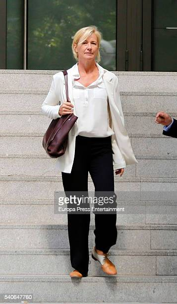 Ana Duato leaves the National Court to be questioned over a tax fraud on June 15 2016 in Madrid Spain
