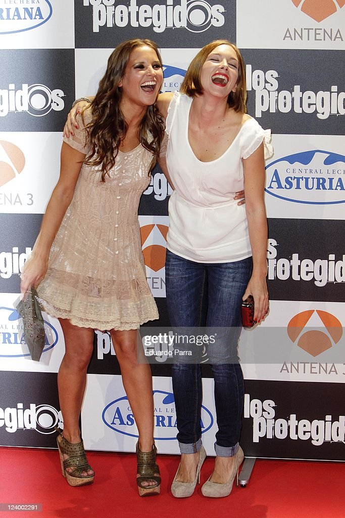 Ana Fernandez and Natalia Rodriguez attend Los protegidos premiere at Capitol Cinema on September 7 2011 in Madrid Spain