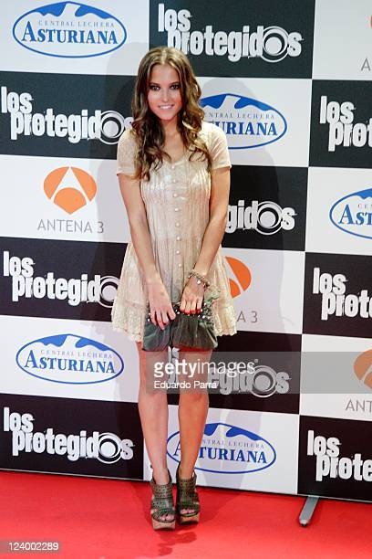 Ana Fernandez attends Los protegidos premiere at Capitol Cinema on September 7 2011 in Madrid Spain