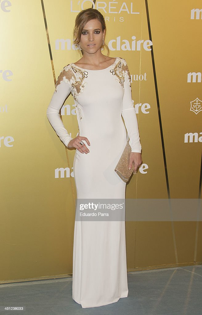 Ana Fernandez attends 'Marie Claire Prix de la moda' awards 2013 photocall at Residence of France on November 21, 2013 in Madrid, Spain.