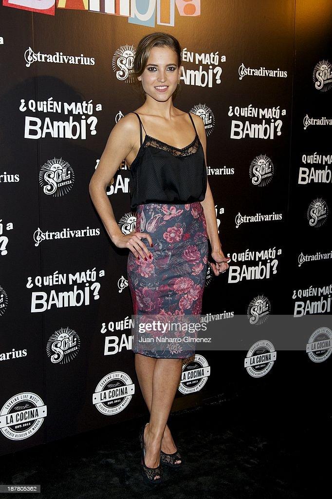 Ana Fernandez attends 'Quien Mato a Bambi?' premiere at La Cocina Rock Bar on November 12, 2013 in Madrid, Spain.