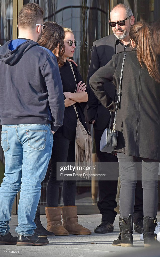 Ana Fernandez attends the funeral for Santiago Trancho who died at 32 in a crash accident on March 08 2015 in Madrid Spain
