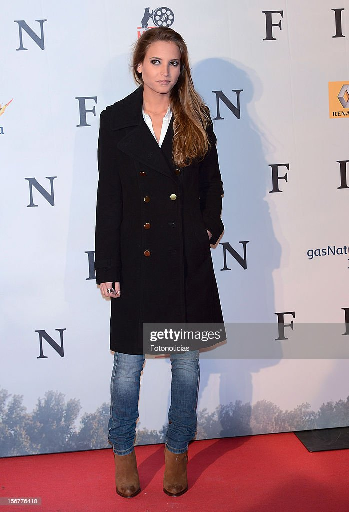 Ana Fernandez attends the premiere of 'Fin' at Callao Cinema on November 20, 2012 in Madrid, Spain.