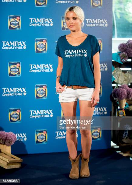 Ana Fernandez Celebrates Tampax 80th Anniversary on July 19 2017 in Madrid Spain