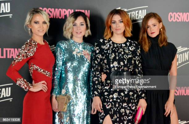 Ana Fernandez Nadia de Santiago Blanca Suarez and Ana Maria Polvorosa attend the Cosmpolitan Awards #COSMOAWARDS at Graf club on October 19 2017 in...