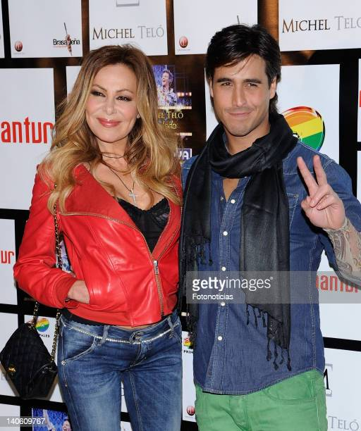 Ana Garcia Obregon and Raul Olivo arrive to Michel Telo's concert at the Palacio de Vista Alegre on March 2 2012 in Madrid Spain