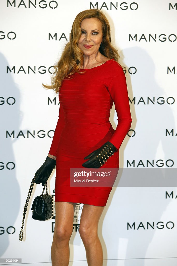 Ana Garcia Obregon attends the photocall at the Mango fashion show as part of the 080 Barcelona Fashion Week Autumn/Winter 2013-2014 on January 28, 2013 in Barcelona, Spain.