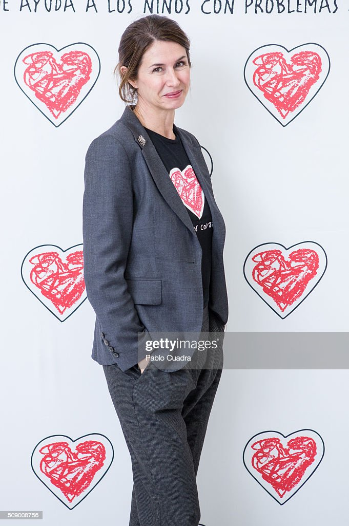 Ana Garcia Sineriz presents the charity jewels collection 'Emociones' by Menuos Corazones foundation on February 8, 2016 in Madrid, Spain.