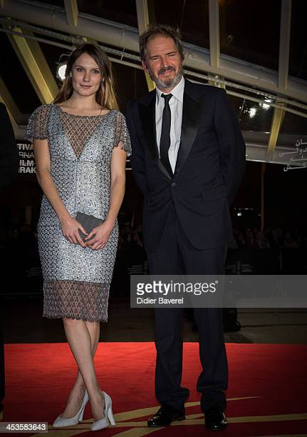 Ana Girardot and Christopher Thompson attend the tribute to scandinavian cinema at 13th Marrakech International Film Festival on December 4 2013 in...