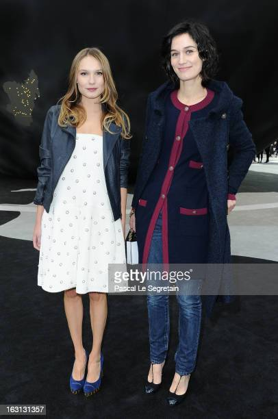 Ana Girardot and Clotilde Hesme attend the Chanel Fall/Winter 2013 ReadytoWear show as part of Paris Fashion Week at Grand Palais on March 5 2013 in...