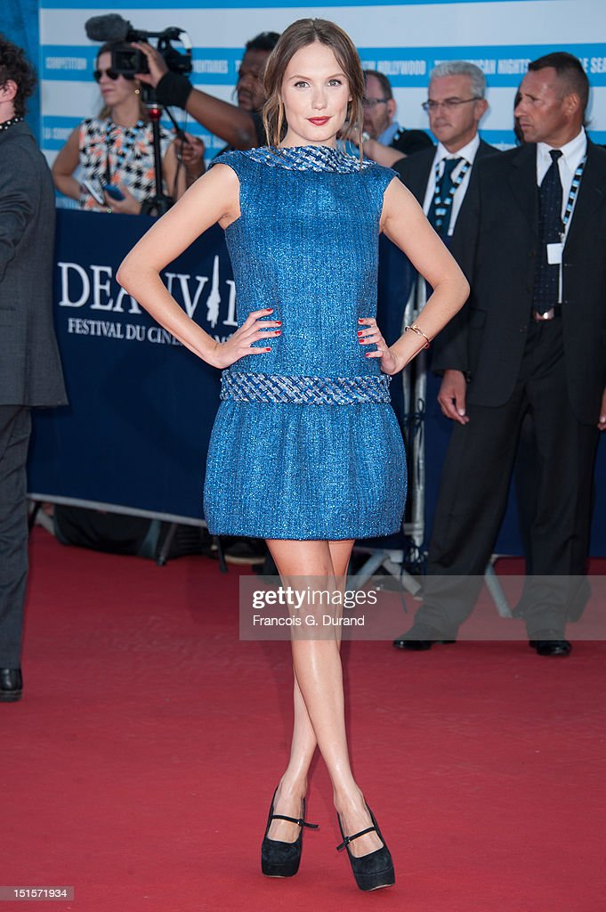 Ana Girardot arrives at the closing ceremony of the 38th Deauville American Film Festival on September 8, 2012 in Deauville, France.