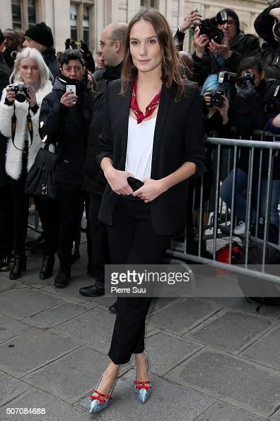 Ana Girardot arrives at the Jean Paul Gaultier Haute Couture Spring Summer 2016 show as part of Paris Fashion Week on January 27 2016 in Paris France