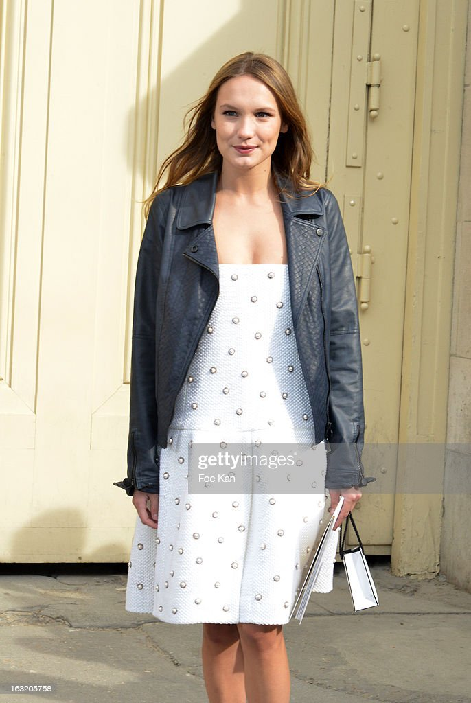 Ana Girardot attends the Chanel Fall/Winter 2013 Ready-to-Wear show as part of Paris Fashion Week at the Grand Palais on March 5, 2013 in Paris, France.