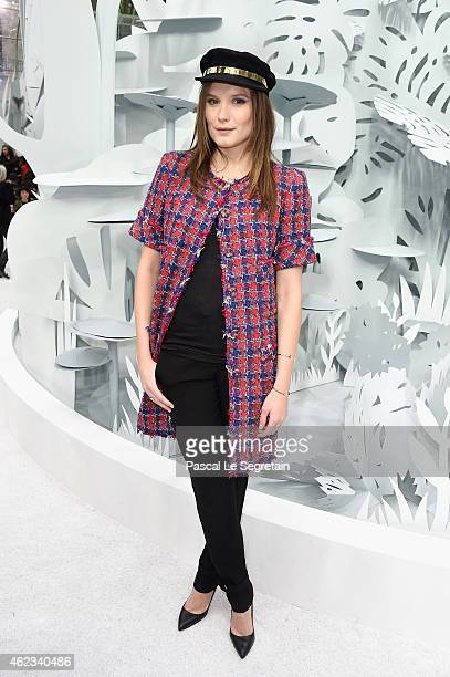 Ana Girardot attends the Chanel show as part of Paris Fashion Week Haute Couture Spring/Summer 2015 on January 27 2015 in Paris France
