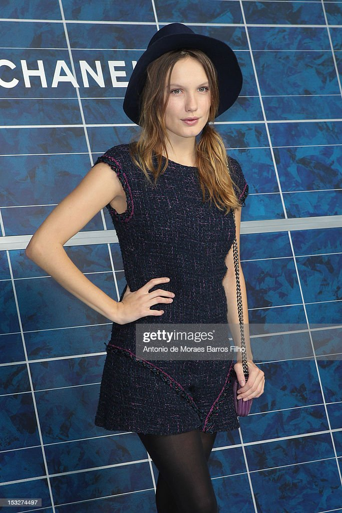 <a gi-track='captionPersonalityLinkClicked' href=/galleries/search?phrase=Ana+Girardot&family=editorial&specificpeople=6991847 ng-click='$event.stopPropagation()'>Ana Girardot</a> attends the Chanel Spring / Summer 2013 show as part of Paris Fashion Week at Grand Palais on October 2, 2012 in Paris, France.