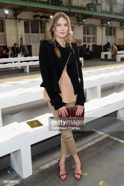 Ana Girardot attends the Chloe show as part of the Paris Fashion Week Womenswear Spring/Summer 2014 on September 29 2013 in Paris France